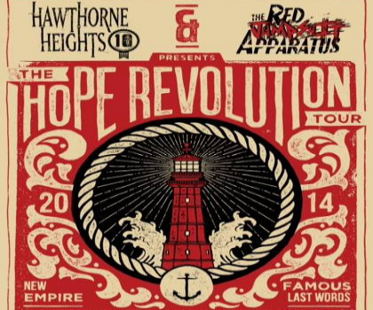 "HAWTHORNE HEIGHTS & THE RED JUMPSUIT APPARATUS – ""The Hope Revolution Tour"""
