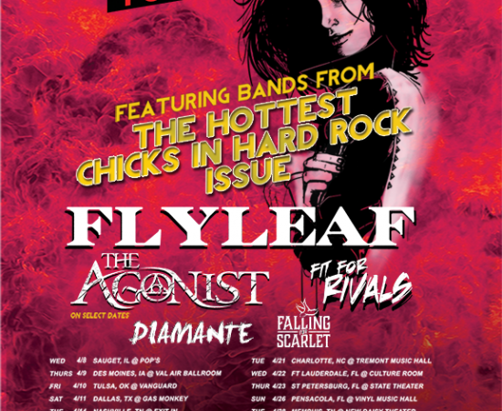 "FLYLEAF ""Revolver's Hottest Chicks in Hard Rock Tour"" with Fit For Rivals – Diamante – Falling For Scarlet"