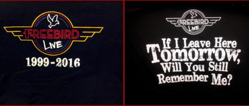 Freebird Live Commemorative T-Shirt – $25